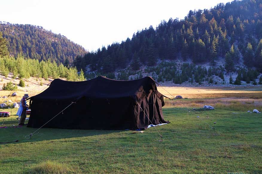 Anatolian Turkmen Black tent view from the outside