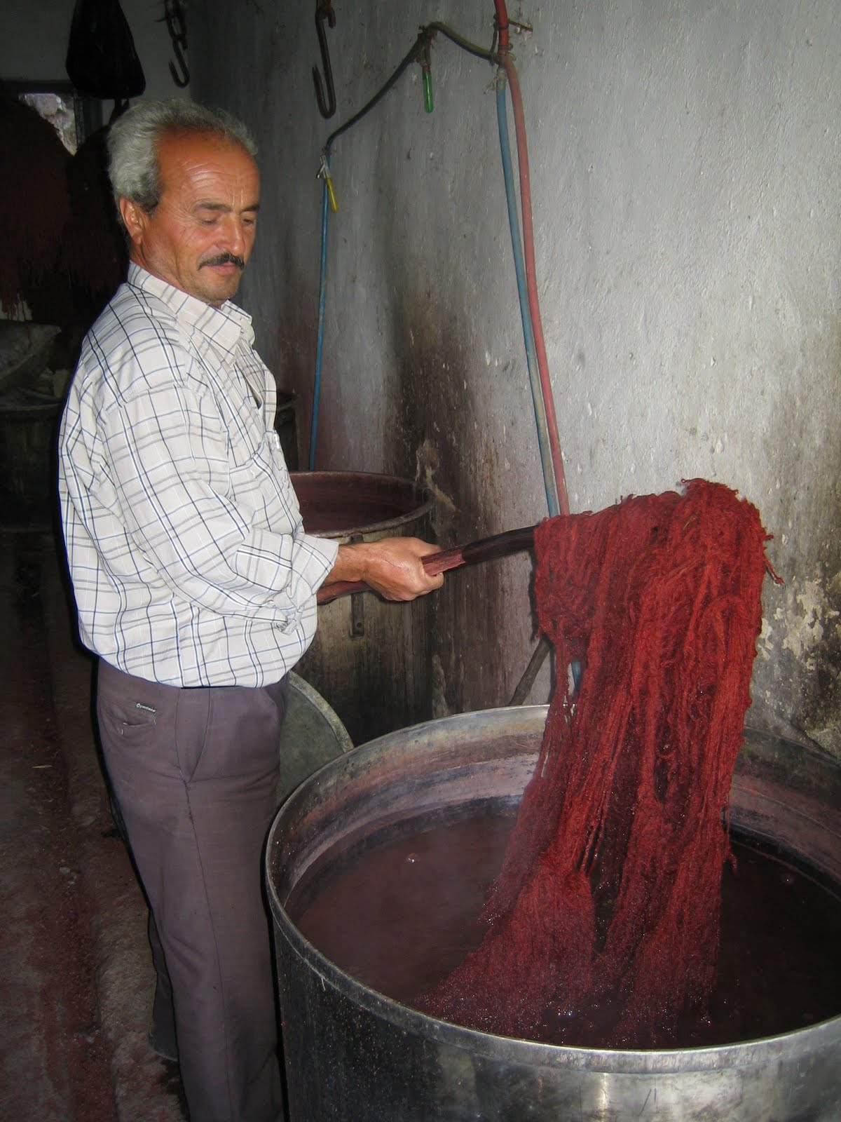 Red dyeing process in Örselli village, Manisa, Western Turkey, 2007