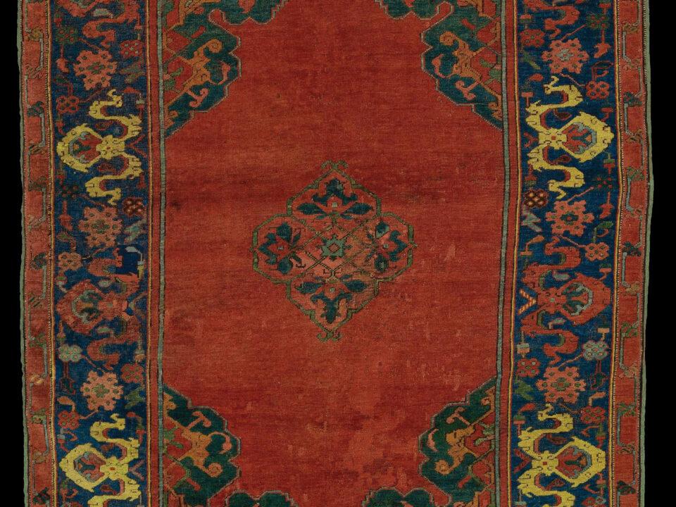 Ushak carpet, prayer size, 17th century